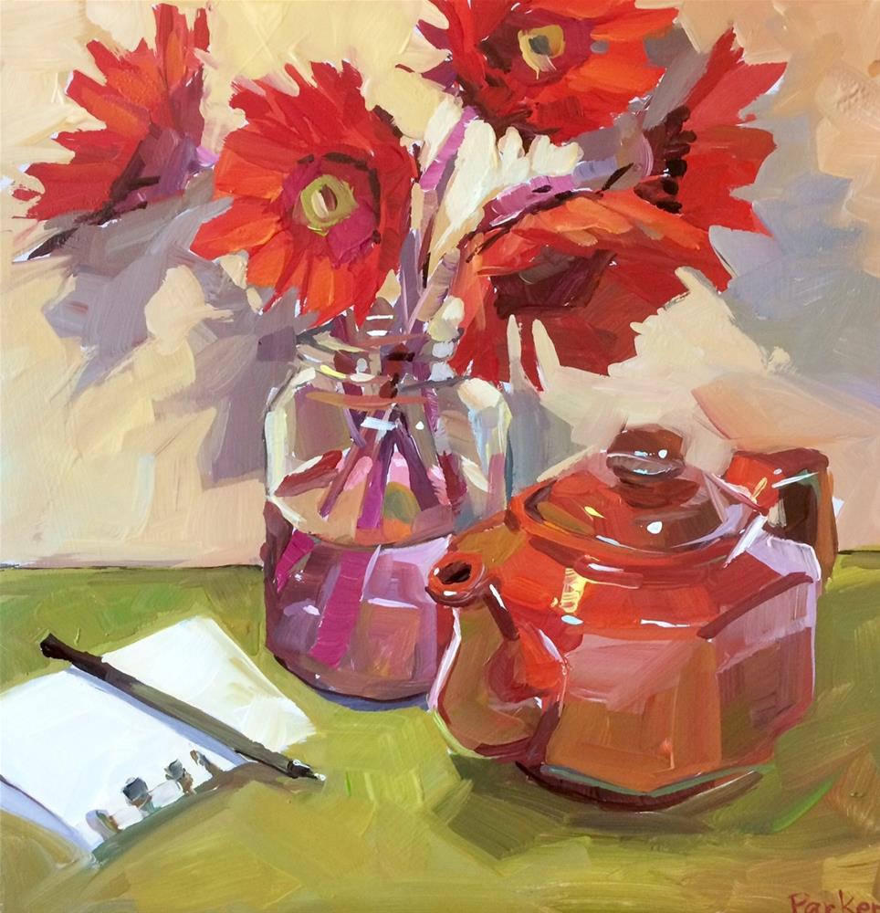 """Scarlet Letter"" original fine art by Teddi Parker"