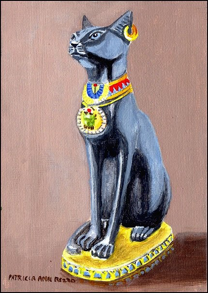 """Egyptian Cat"" original fine art by Patricia Ann Rizzo"