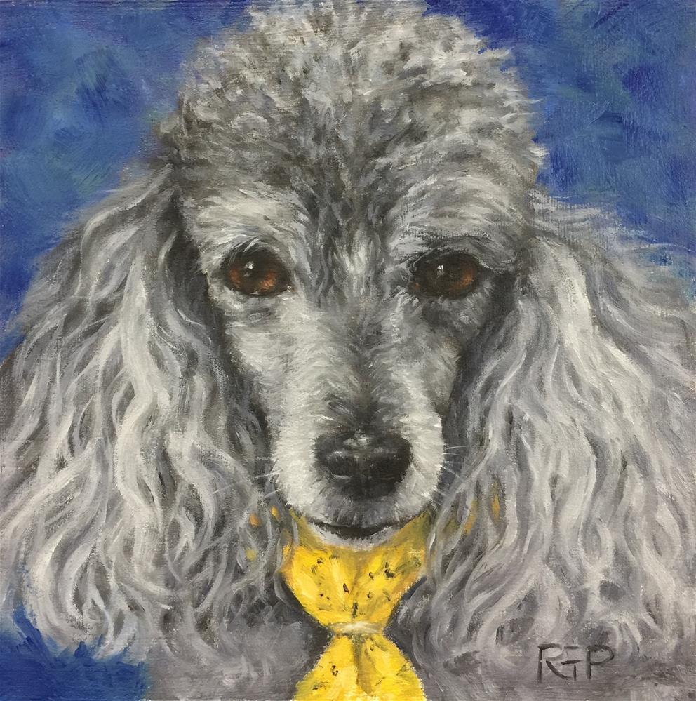 """Snickers (pet portrait)"" original fine art by Rhea  Groepper Pettit"