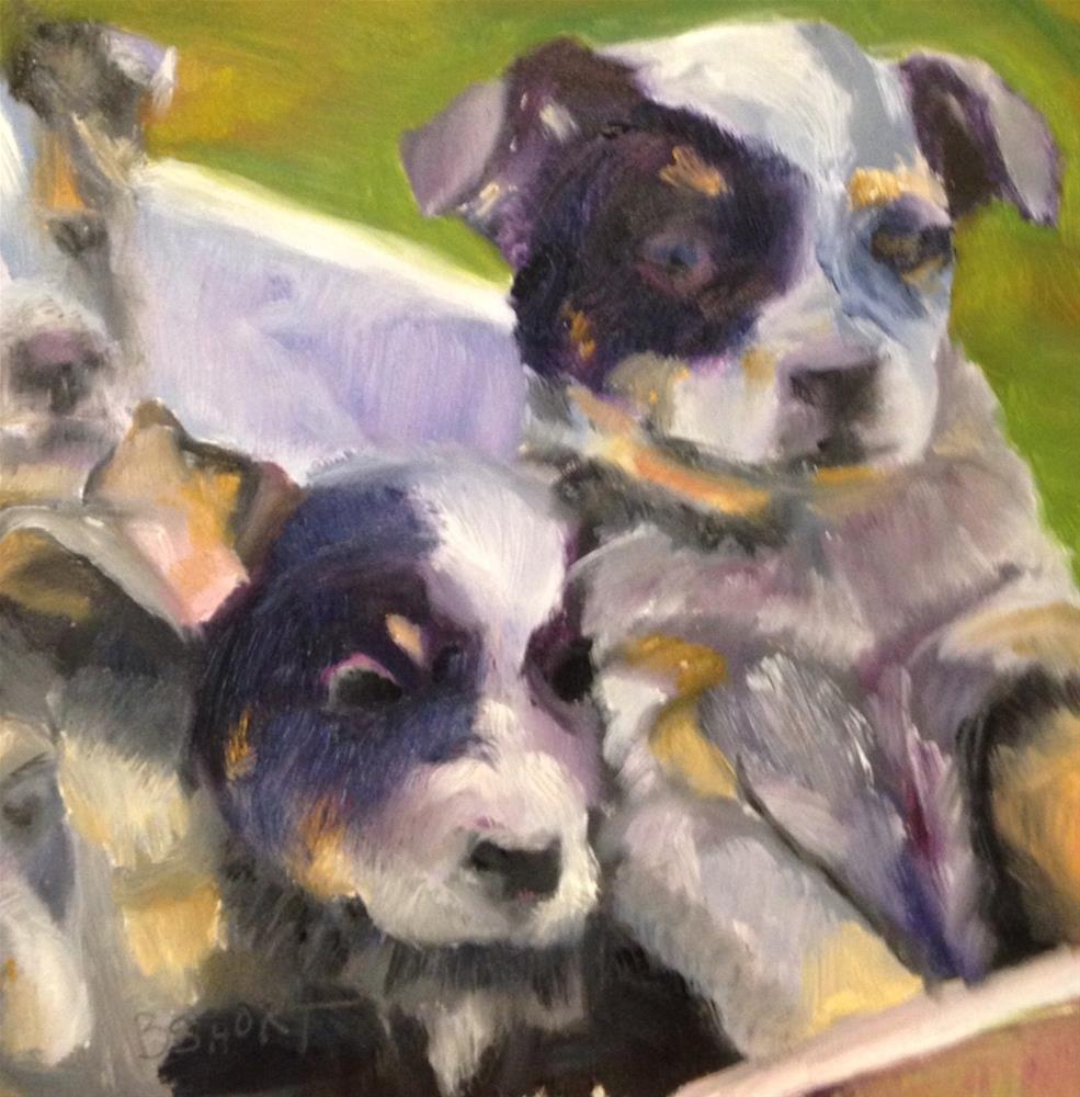 """Day4; pupies"" original fine art by Brenda Short"