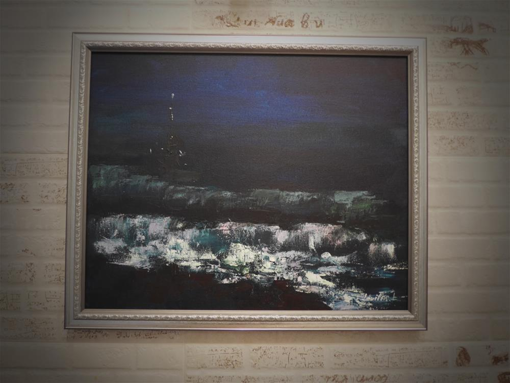 """Night sea"" original fine art by Liudmyla Levitas"