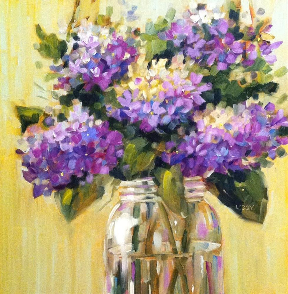 """Lavender Blue"" original fine art by Libby Anderson"
