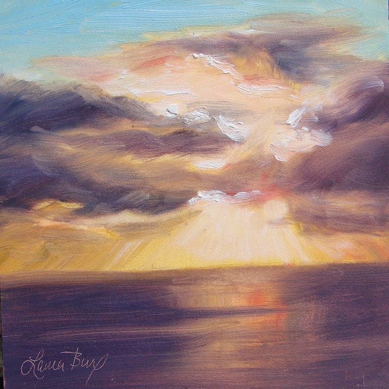 """Sunset 133"" original fine art by Laura  Buxo"