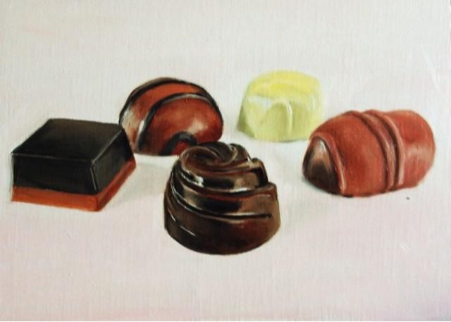 """Chocolates"" original fine art by James Coates"