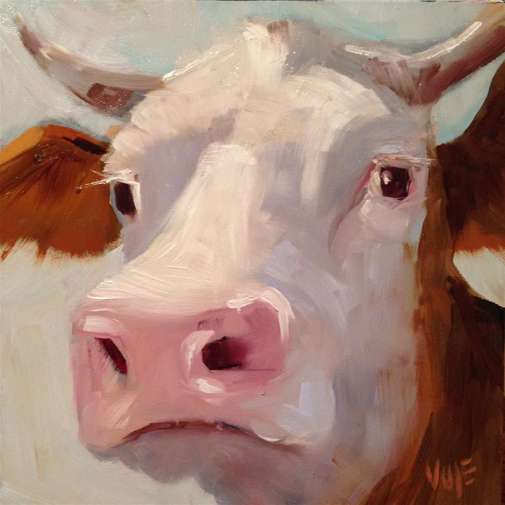 """#37 Holy Cow"" original fine art by Patty Voje"