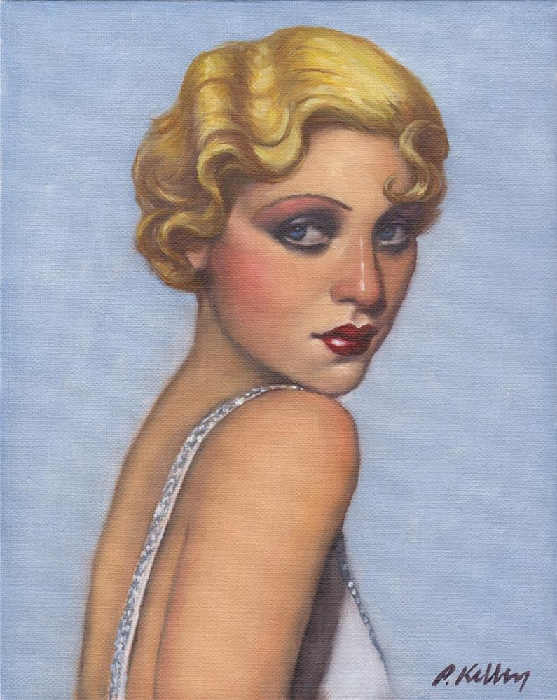 """Portrait of a Glamour Girl"" original fine art by Pat Kelley"