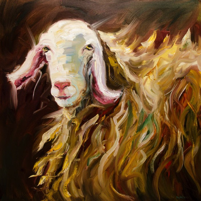 """ARTOUTWEST SHEEP LAMB ART ANIMAL BY Diane Whitehead"" original fine art by Diane Whitehead"