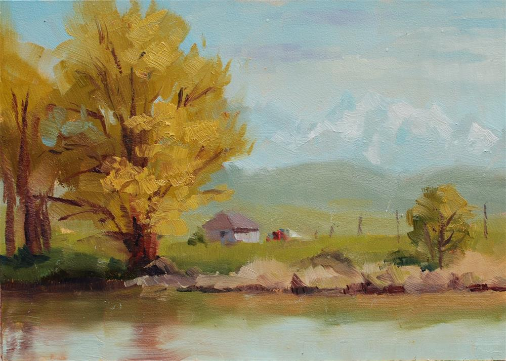 """Snohomish River 2 - Plein Air"" original fine art by Susan McManamen"