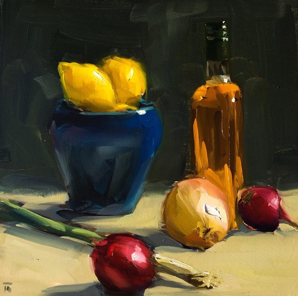 """""""Between beach and dinner"""" original fine art by Thomas Ruckstuhl"""