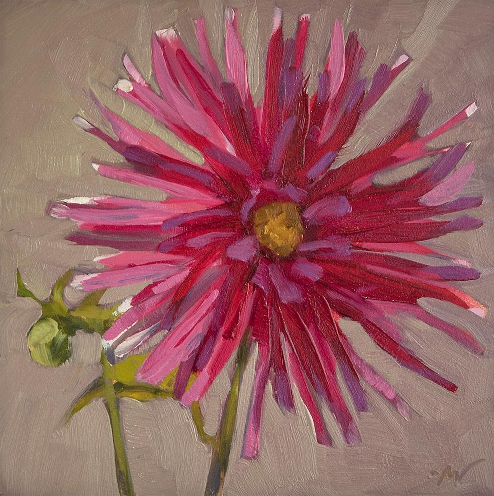 """Dahlia Backlit"" original fine art by Miriam Hill"