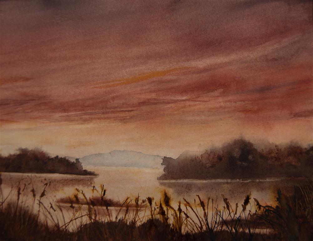 """Marsh Evening"" original fine art by Jean Lurssen"