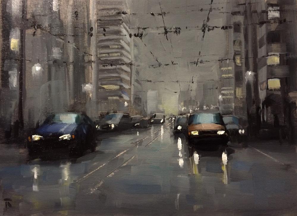 """Street Composition 2"" original fine art by Thomas Ruckstuhl"