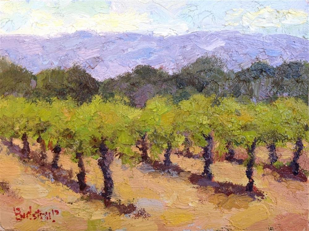 """Well Trained - Napa"" original fine art by Mark Bidstrup"