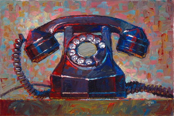 """Automatic Electric Telephone"" original fine art by Raymond Logan"