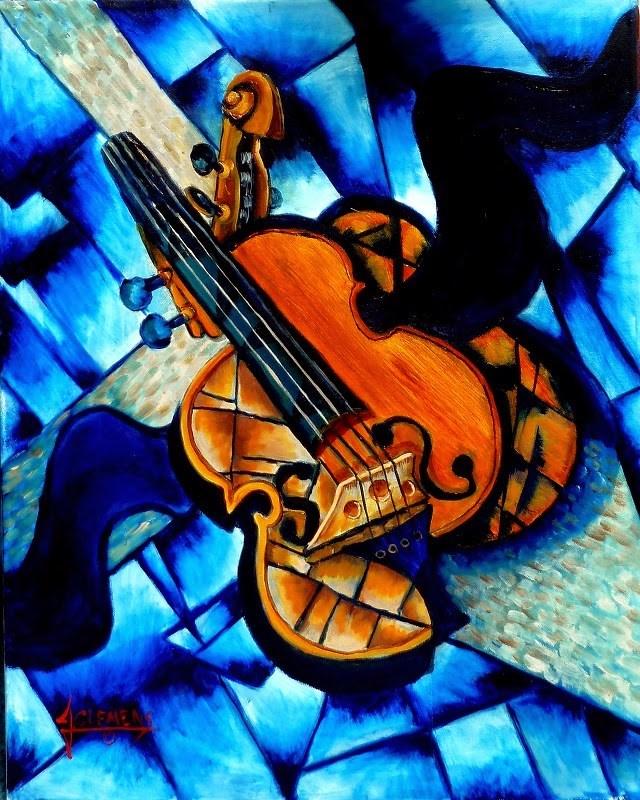 """Violin"" original fine art by Jolynn Clemens"