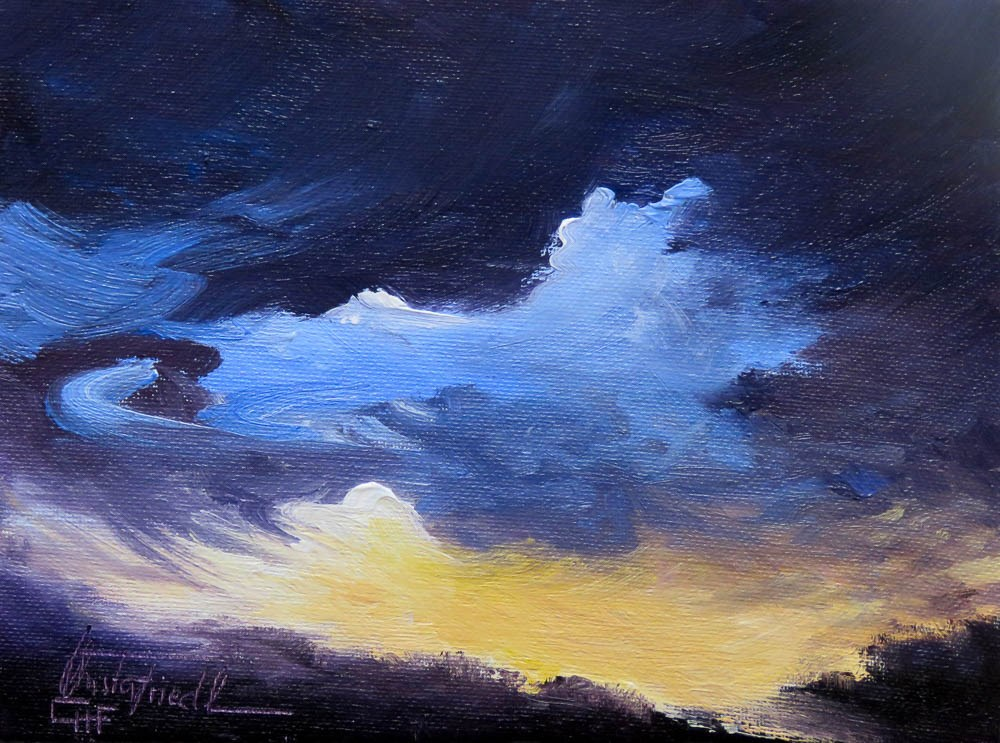 """Before the heavy rain"" original fine art by Christa Friedl"