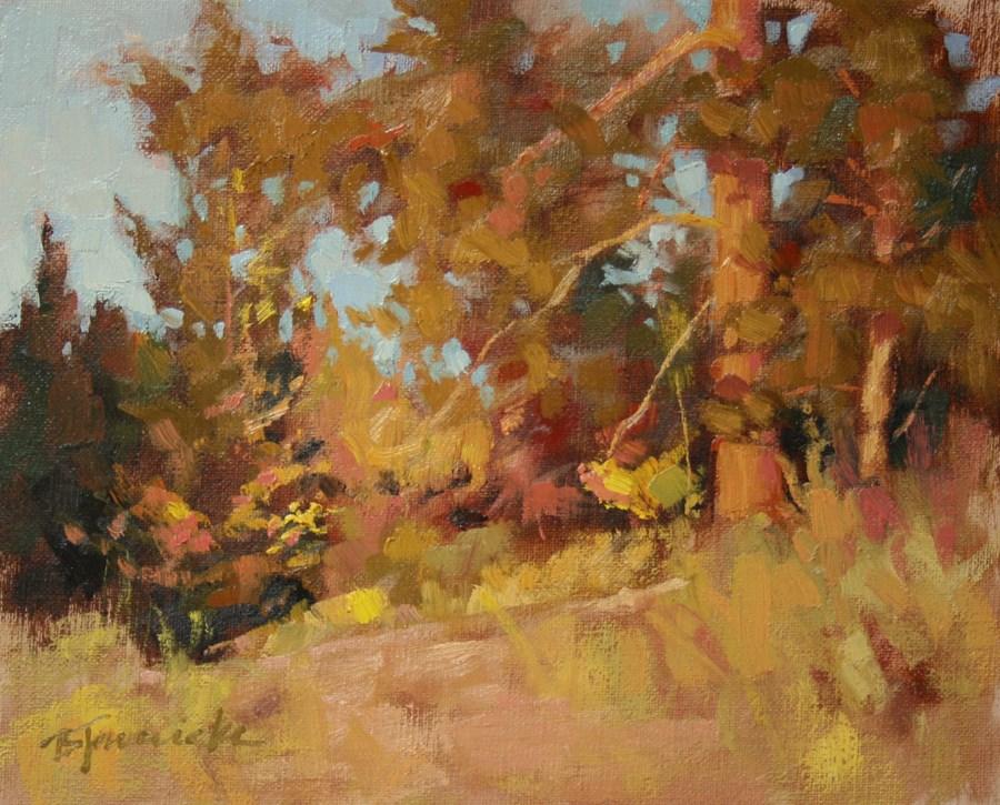 """""""Autumn Razzle-Dazzle"""" original fine art by Barbara Jaenicke"""