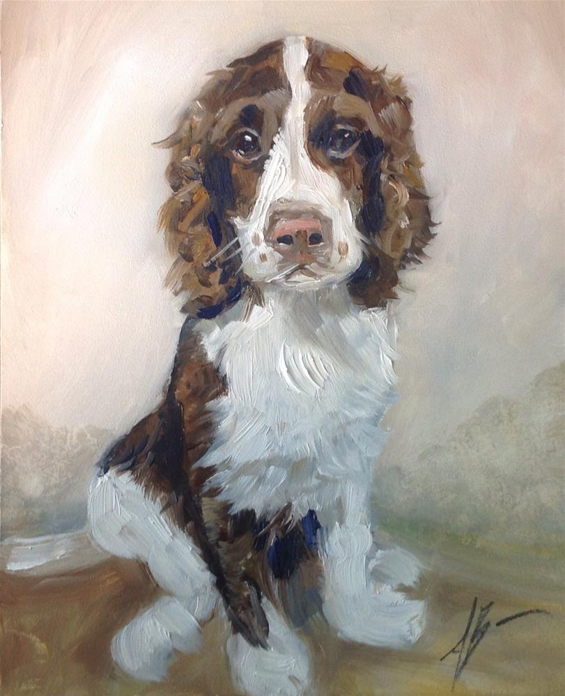 """Springer Portrait"" original fine art by Annette Balesteri"