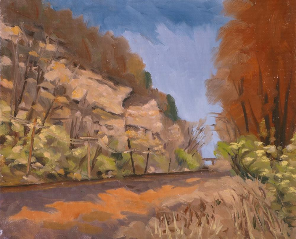 """Cliff Cave Bluffs"" original fine art by Daniel Fishback"