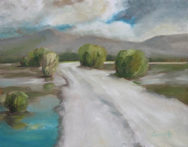 """""""Centennial Marsh Camas Prairie"""" original fine art by Sue Cervenka"""