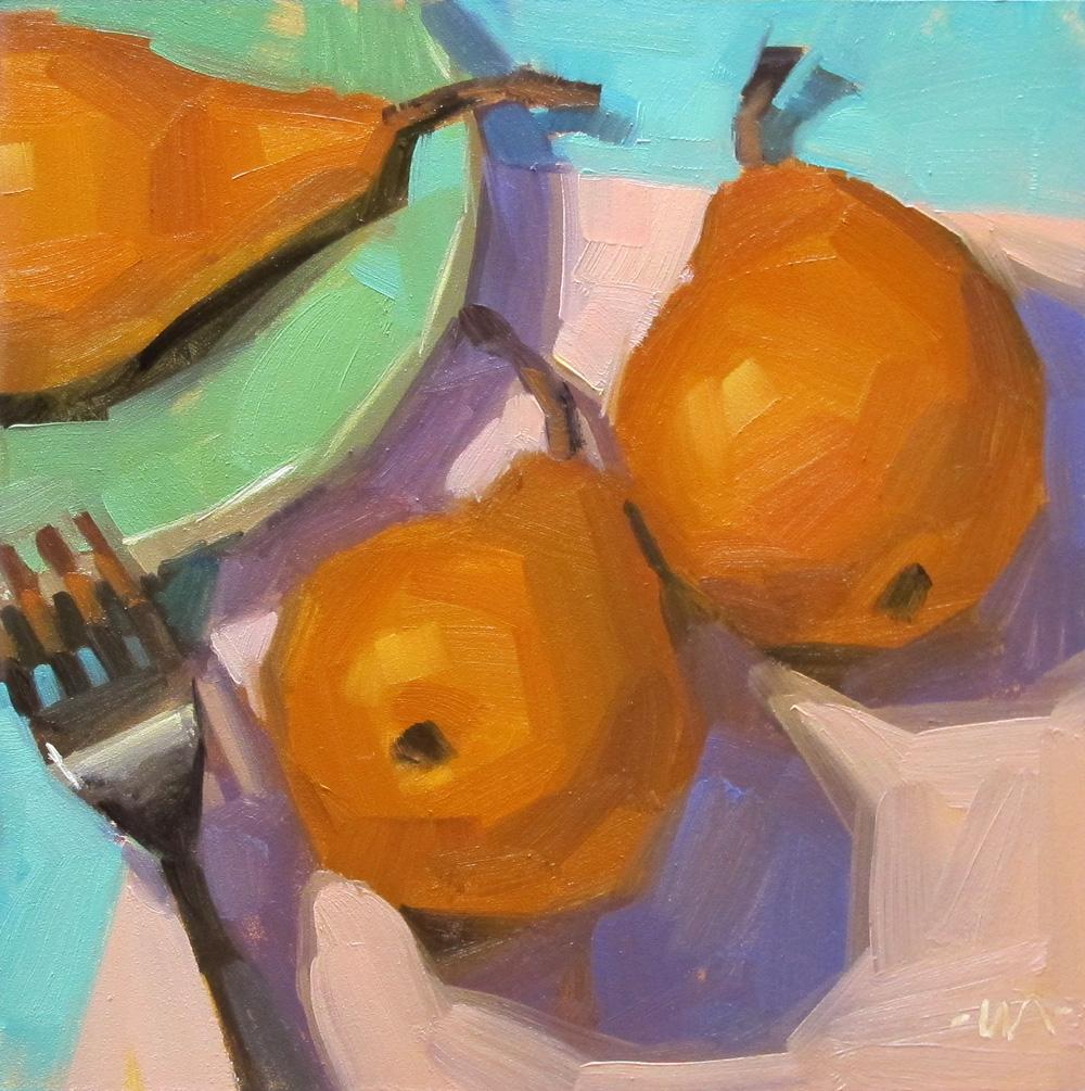 """Pear Migration"" original fine art by Carol Marine"