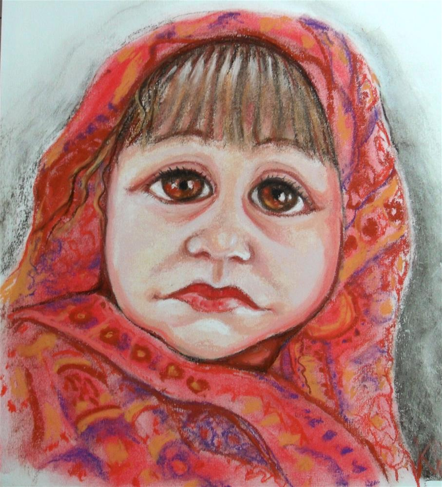 """Big Brown Eyes"" original fine art by Karen Roncari"