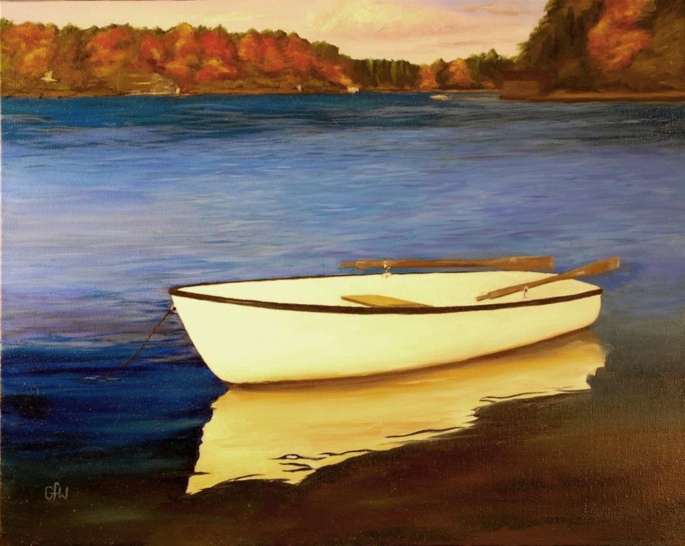 """John's Boat"" original fine art by Gary Westlake"