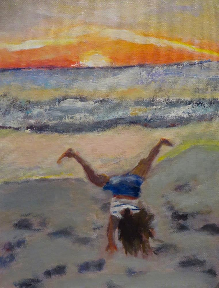"""762 Sunset Cartwheel"" original fine art by Diane Campion"