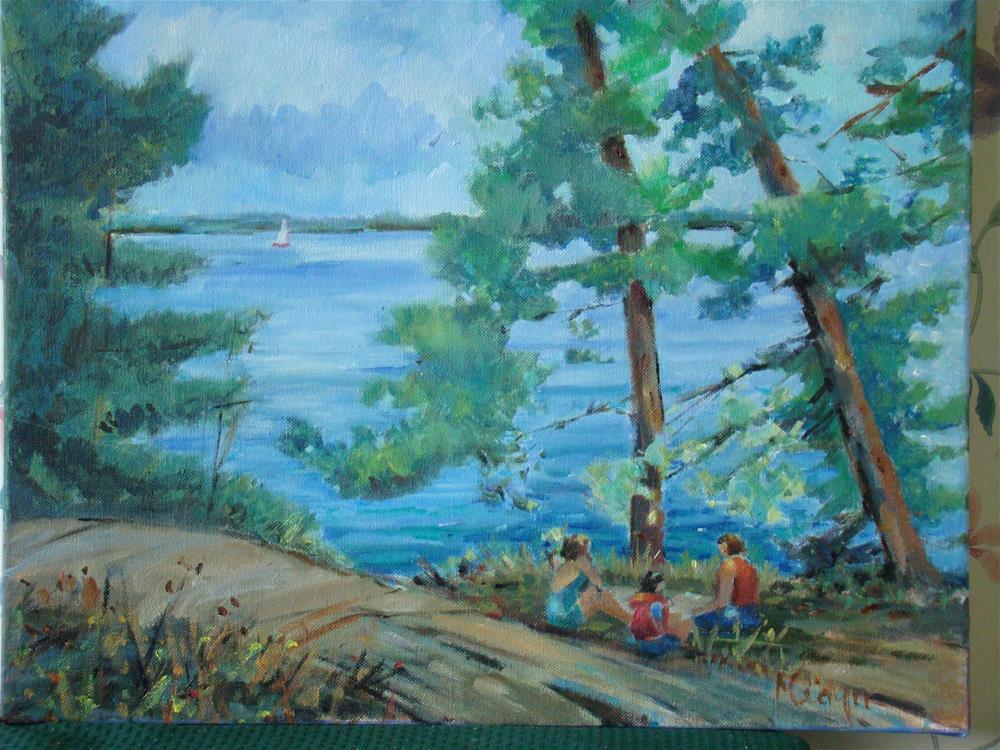 """poicnic2"" original fine art by meribeth coyne"