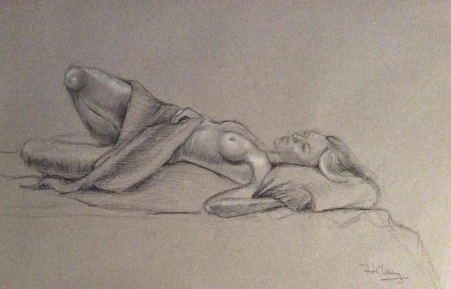 """Female Nude Study"" original fine art by Hilary J. England"