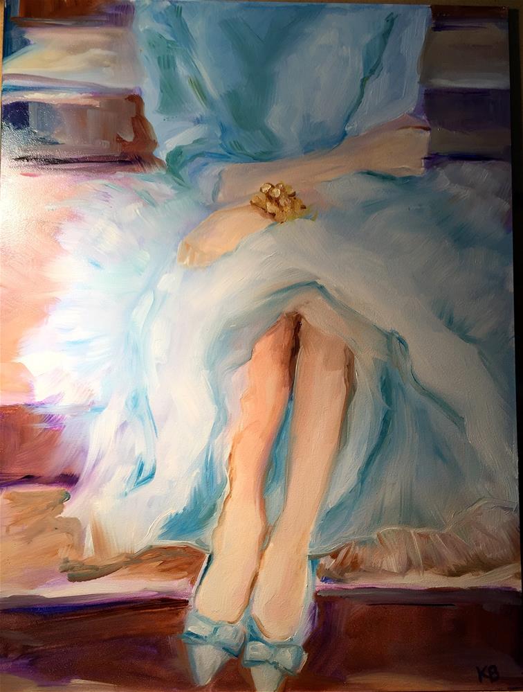 """Sitting pretty"" original fine art by Kim Boyer"