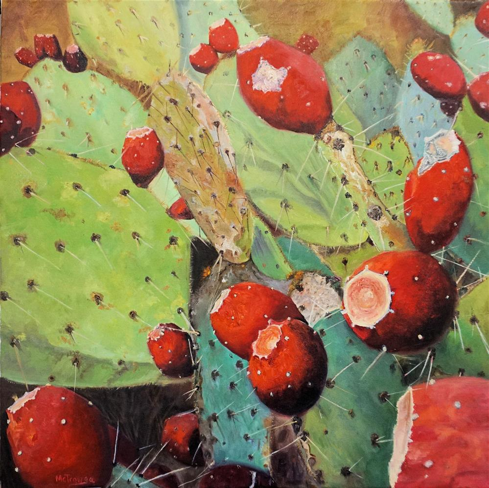 """Cactus - Prickly Pear"" original fine art by Patricia Matranga"