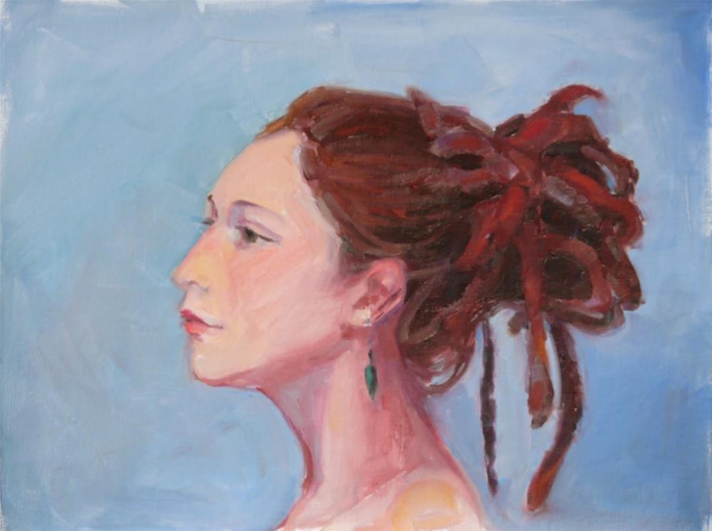 """Another Jen,portrait,oil,16x12,priceNFS"" original fine art by Joy Olney"
