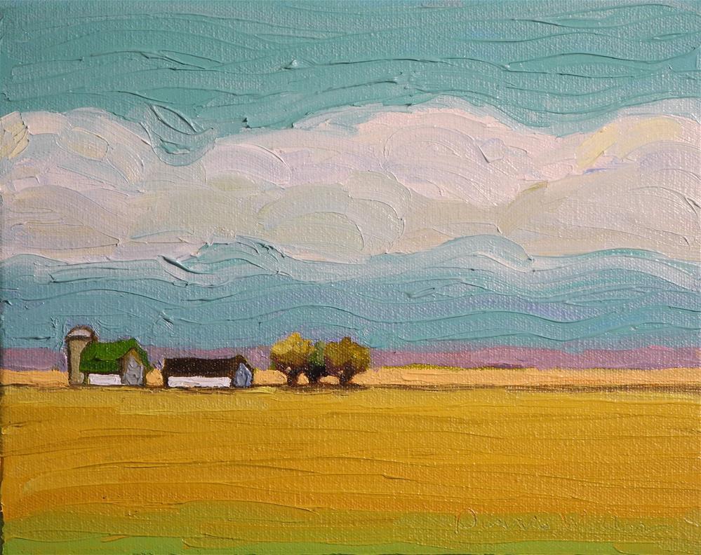 """Fields and Clouds II"" original fine art by Donna Walker"