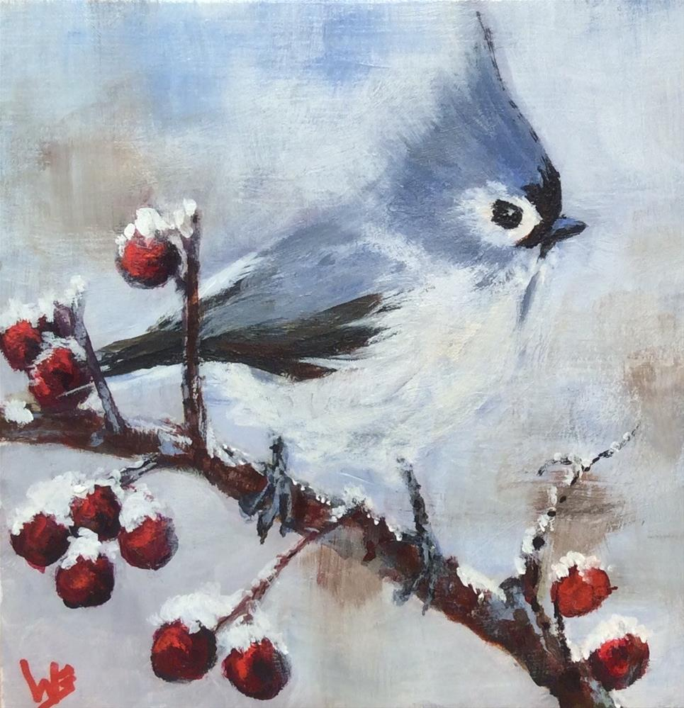 """Winter Sentinel"" original fine art by wendy black"