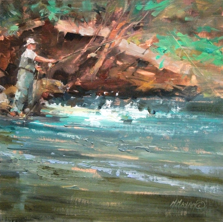 """His Day Off"" original fine art by Mary Maxam"