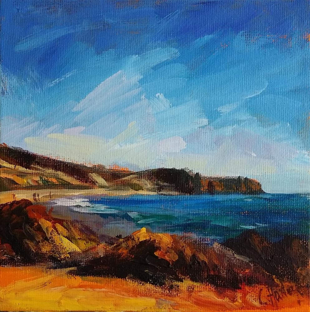 """Seascape n°2"" original fine art by Catherine Harley"