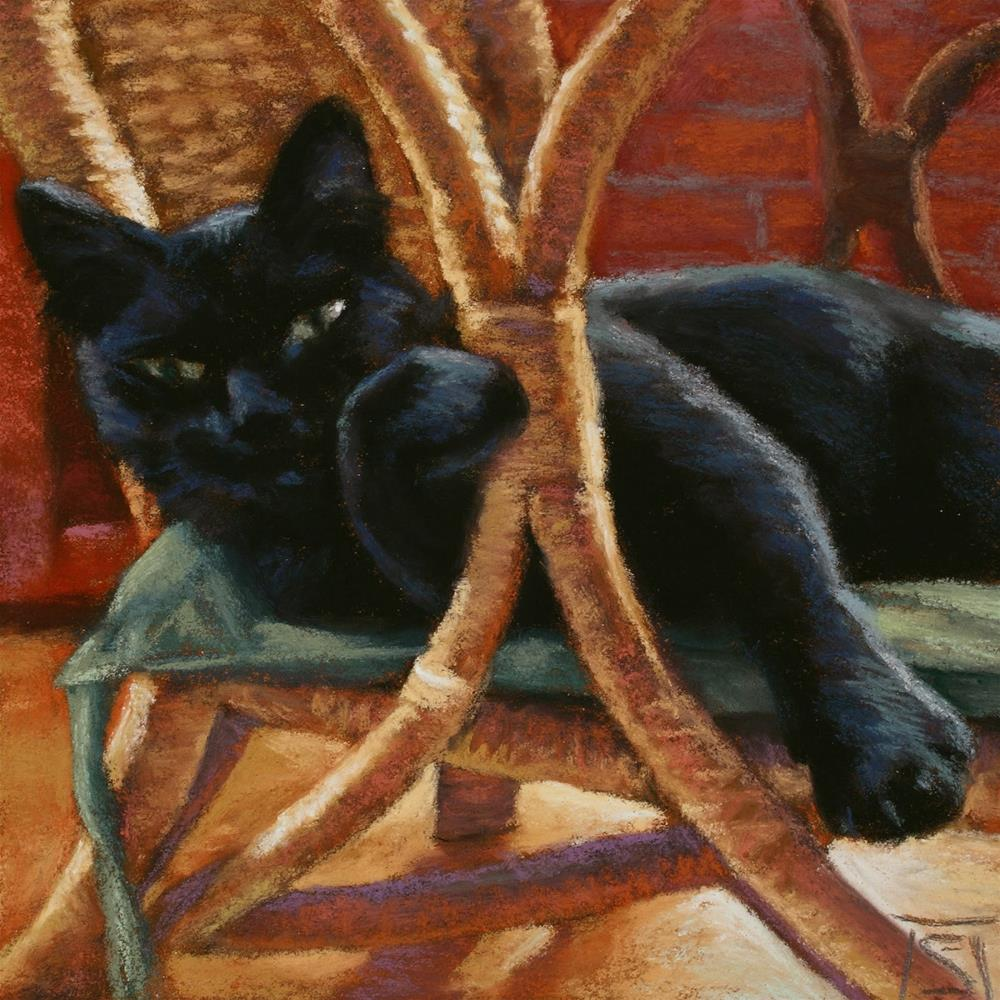 """No, This is My Chair."" original fine art by Sheila Evans"
