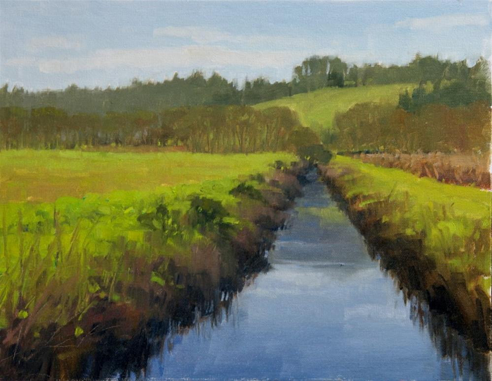 """Wildlife Refuge Creek"" original fine art by Kathy O'Leary"