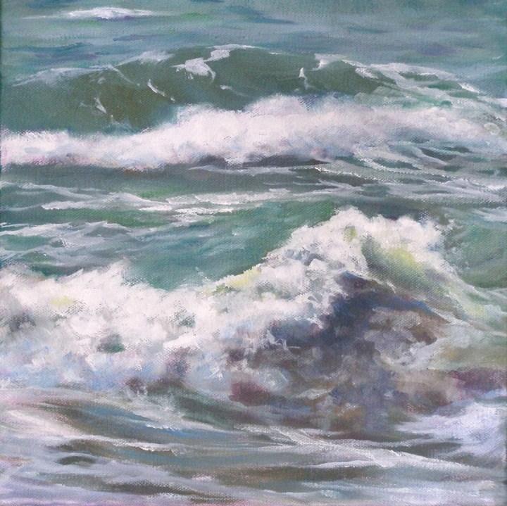"""""""Sea Change, 10x10 Oil on Canvas"""" original fine art by Carmen Beecher"""