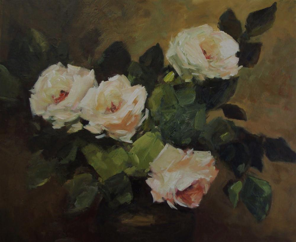 """vase of roses"" original fine art by Parastoo Ganjei"