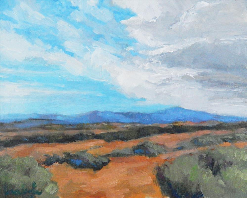 """Clouds and Sagebrush"" original fine art by Lisa Kyle"