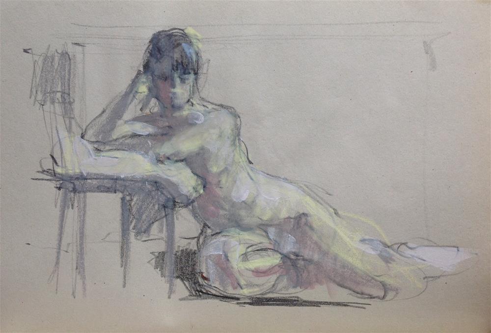 """Life sketch"" original fine art by Christine Bayle"