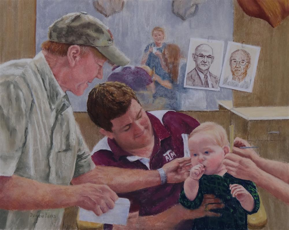 """5 Generations"" original fine art by Denise Beard"
