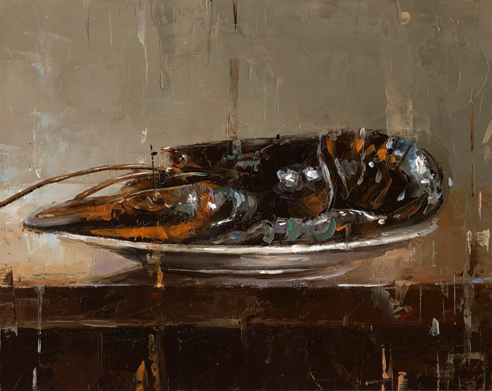 """Lobster"" original fine art by Victor Bauer"