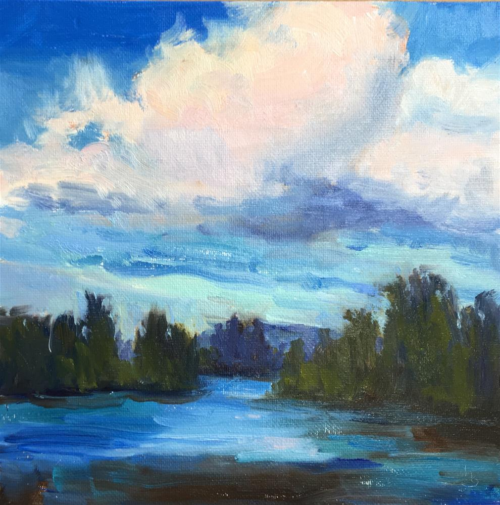 """A Walk by the River"" original fine art by Victoria  Biedron"