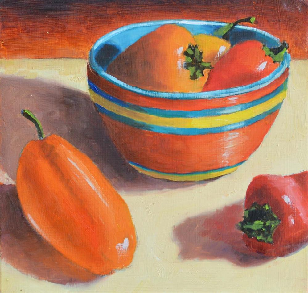 """Peppers"" original fine art by Robert Frankis"