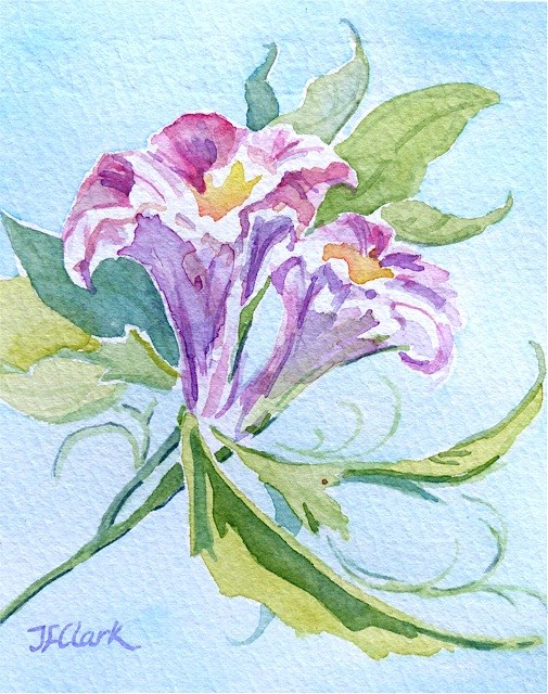 """Tiny Lilies"" original fine art by Judith Freeman Clark"