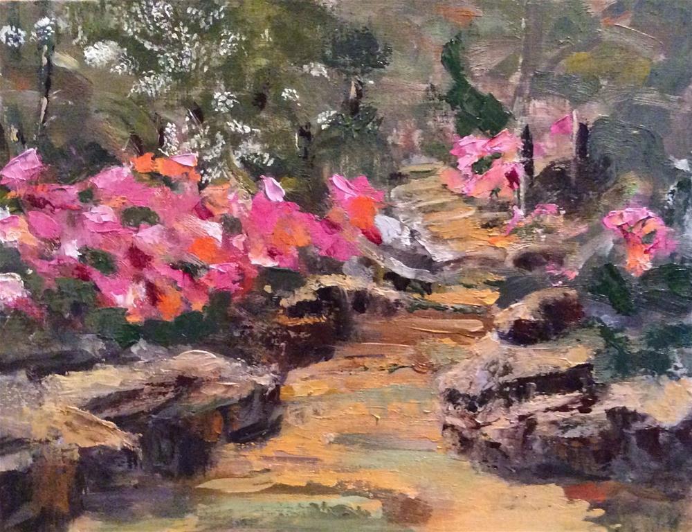 """Down the Garden Path"" original fine art by Charlotte Lough"