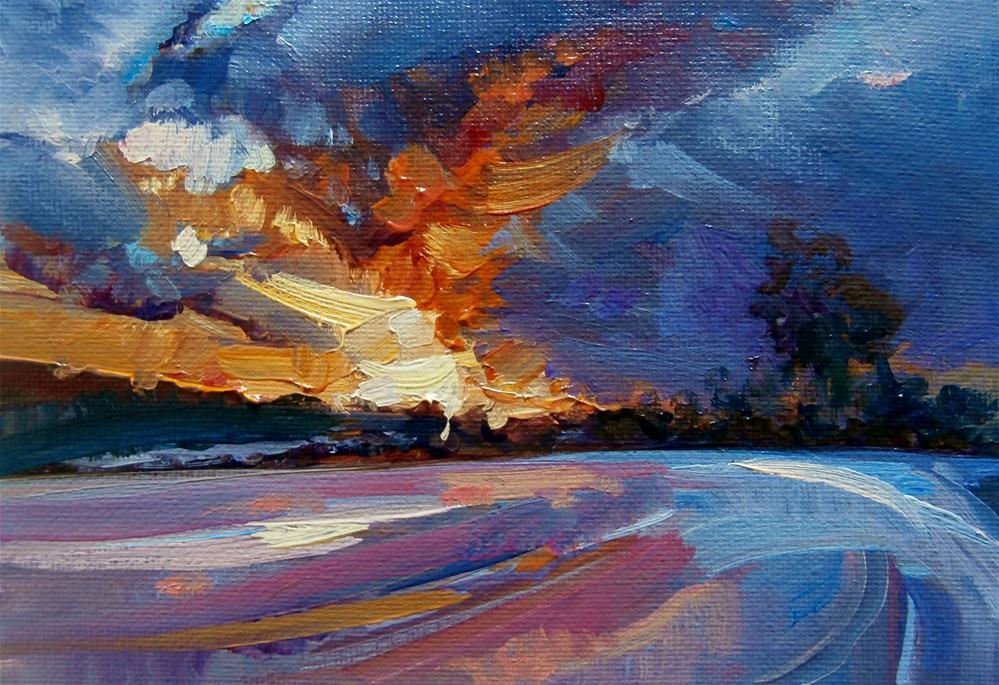 """""""Flooded Fields"""" original fine art by Anne Wood"""